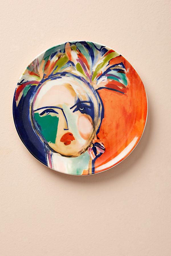 Belle D'Isle Plates - Red Motif, Size Salad
