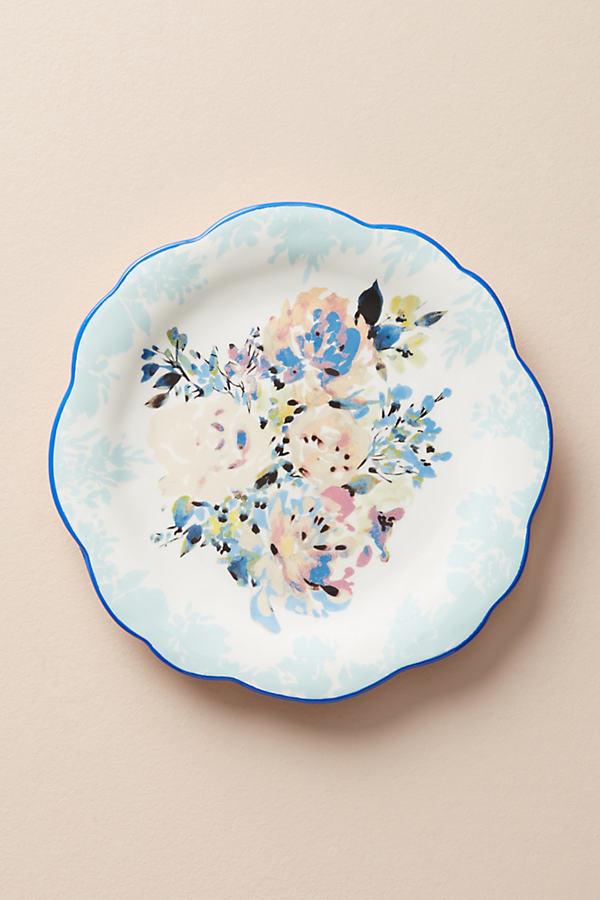 Gardenshire Side Plate - Blue Motif, Size Salad