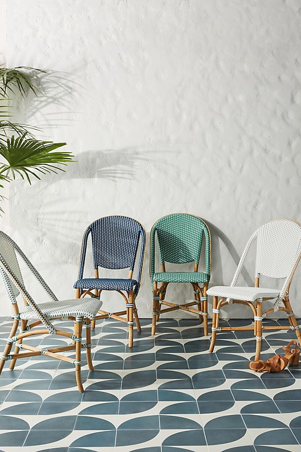 Slide View: 2: Woven Indoor/Outdoor Bistro Chair