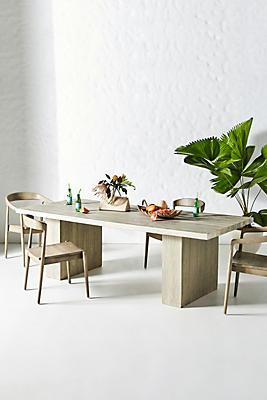 Slide View: 1: Concrete Indoor/Outdoor Dining Table