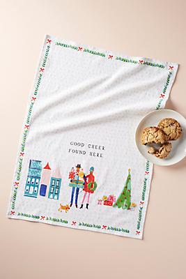 Slide View: 1: Good Cheer Dish Towel