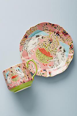 Slide View: 2: Eastern Animal Dessert Plate