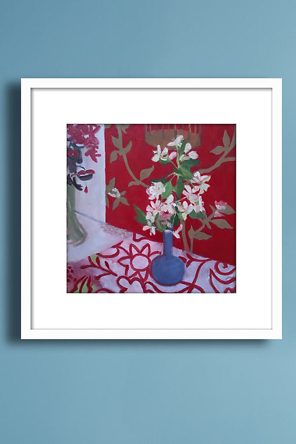 Flowers Wall Art - White