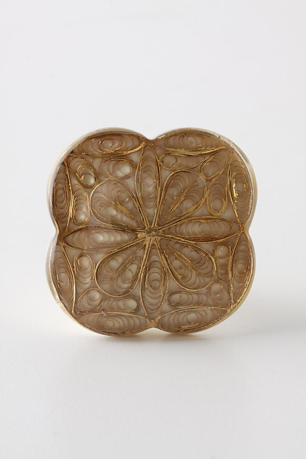 Inlaid Filigree Knob, Linen