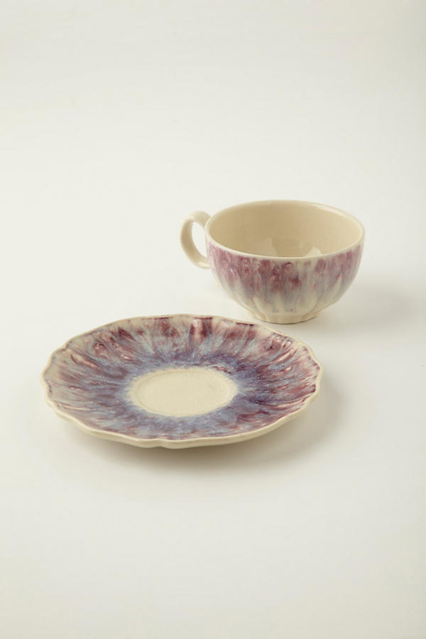 Slide View: 3: Smoke Rings Cup & Saucer