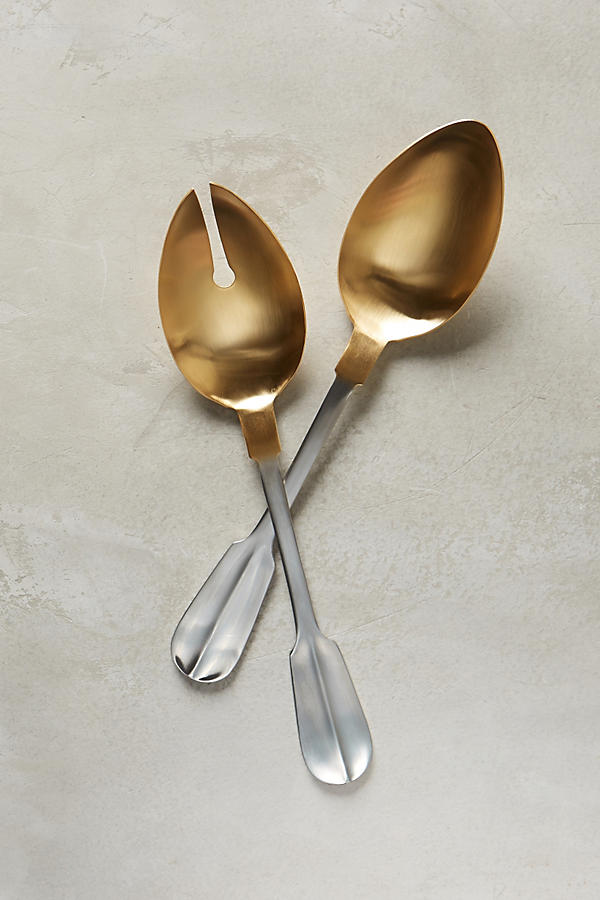 Gold-Tipped Serving Set