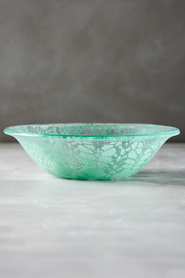 Frosted Doily Bowl