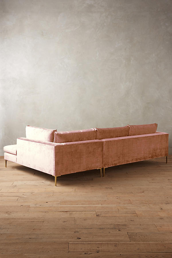 Slide View: 2: Slub Velvet Edlyn Right Sectional