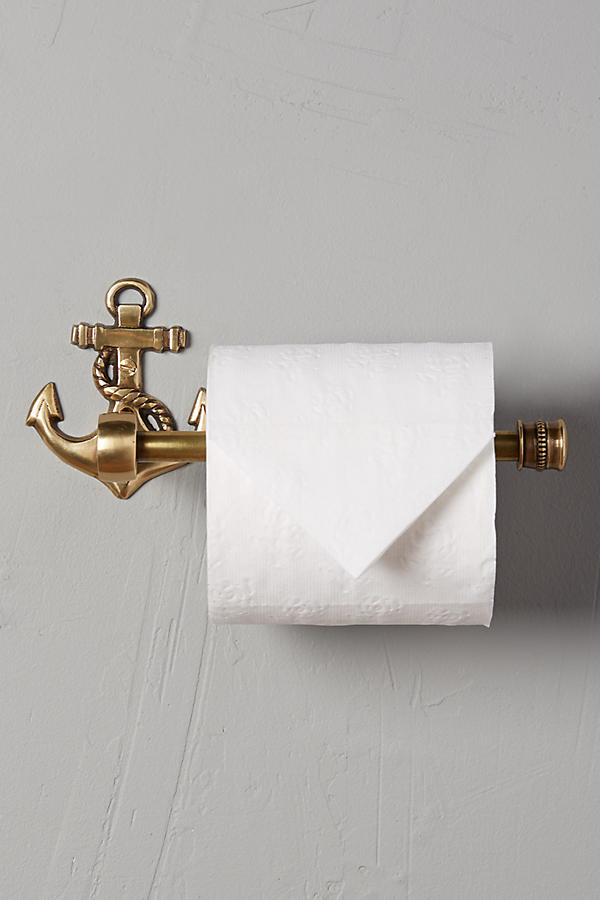 Brass Anchor Toilet Paper Holder