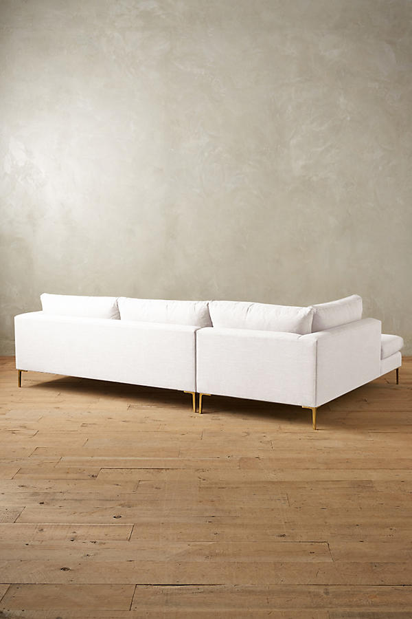 Slide View: 2: Belgian Linen Edlyn Left Sectional