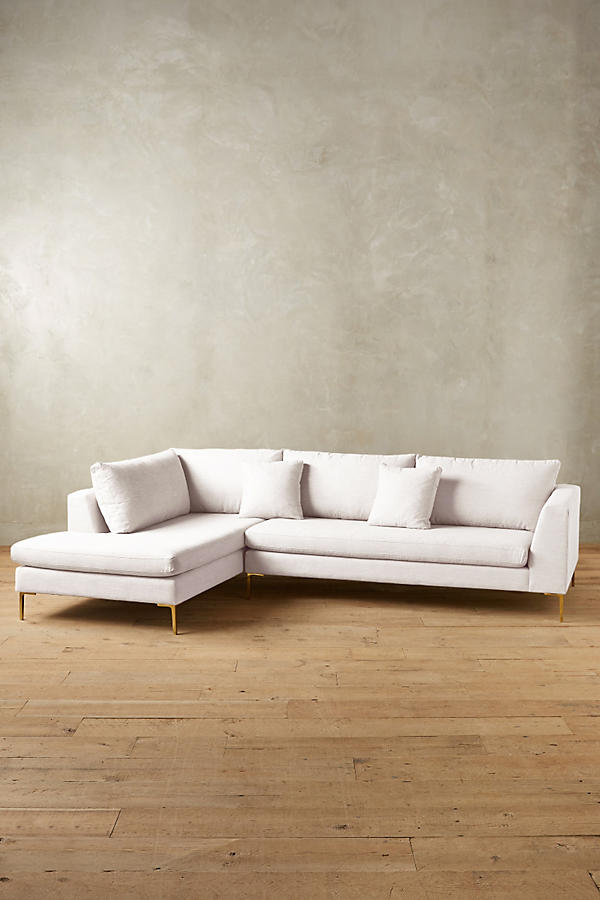 Slide View: 1: Belgian Linen Edlyn Left Sectional