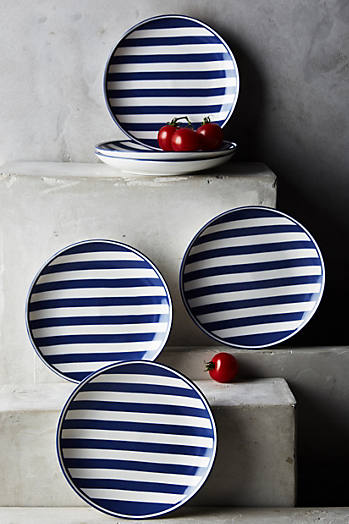 Slide View: 1: Caskata Beach Towel Canape Plate Set