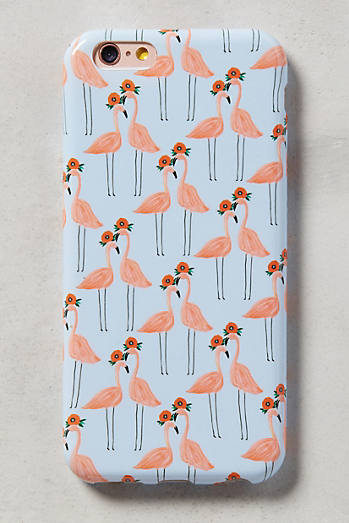 Paired Flamingos iPhone 6 Case