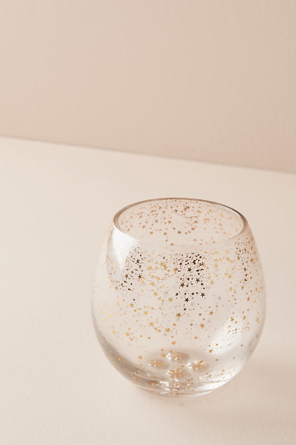 Star Cluster Stemless Wine Glass - Clear, Size Old Fashion