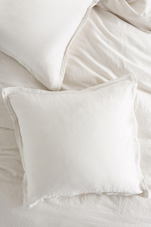 Slide View: 1: Relaxed Cotton-Linen Pillowcase