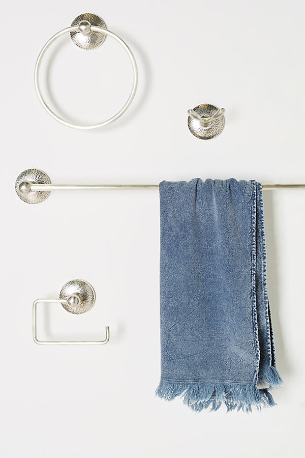 Slide View: 4: Hammered Towel Ring