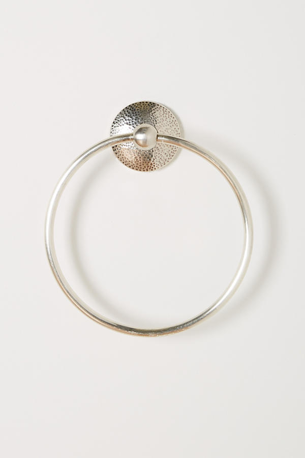 Slide View: 2: Hammered Towel Ring
