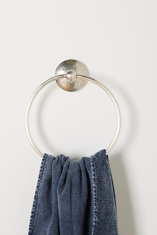 Slide View: 1: Hammered Towel Ring