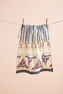 Slide View: 1: Pietra Embroidered Tea Towel