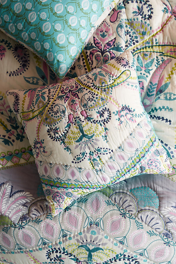 Slide View: 1: Florilla Square Pillowcase