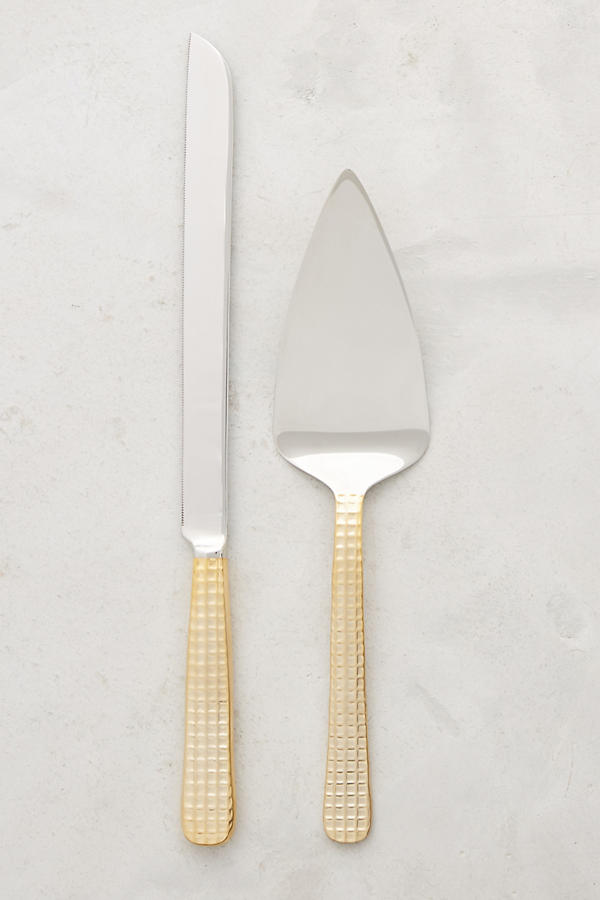 Slide View: 1: Manhattan Gold Cake Serving Set
