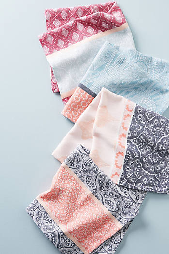 Slide View: 1: Liberty for Anthropologie Jacquard-Woven Napkin Set
