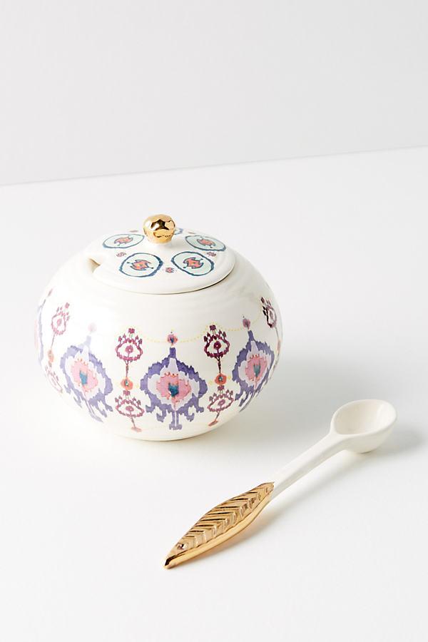 Haldan Sugar Creamer - Blue Motif, Size Creamer