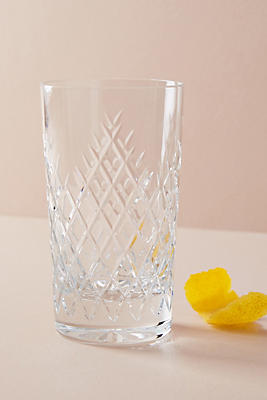 Slide View: 1: Soho Home Barwell Cut Crystal Highball Glass