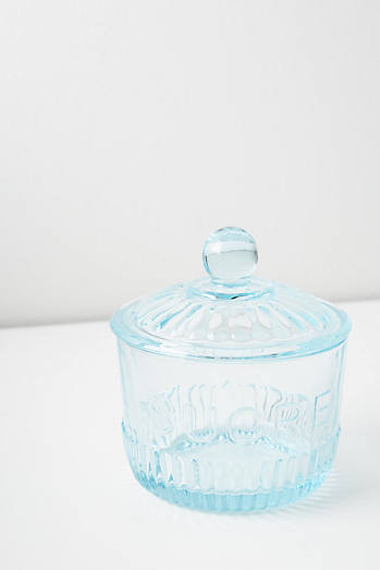 Tinted Glass Sugar Pot