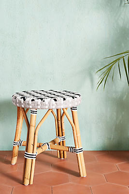 Slide View: 1: Woven Indoor/Outdoor Dining Stool