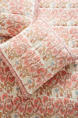 Block Printed Fields Euro Sham by Artisan Quilts By Anthropologie