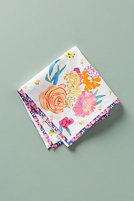 Slide View: 1: Paint + Petals Napkin