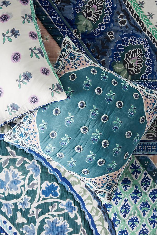 Livia Square Pillowcase - Blue, Size Euro Sham