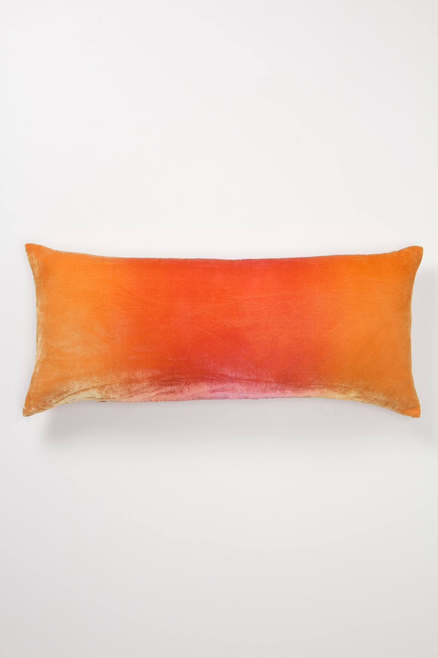 Rose Ombre Velvet Pillow