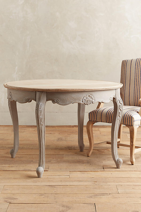 Cabriole dining table round anthropologie for Furniture federal way