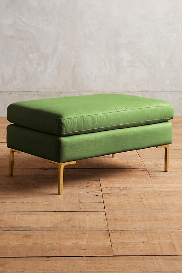 Slide View: 1: Linen Edlyn Ottoman