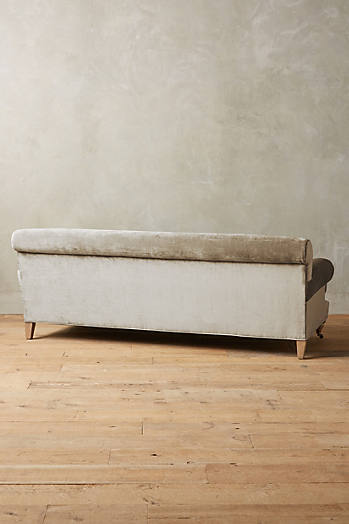 Slide View: 3: Slub Velvet Willoughby Sofa, Wilcox