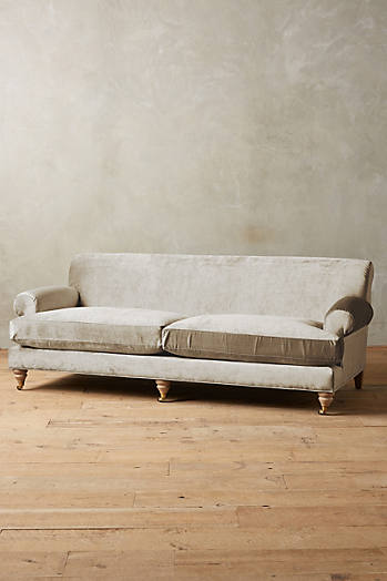 Slide View: 1: Slub Velvet Willoughby Sofa, Wilcox