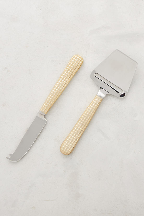 Slide View: 1: Manhattan Gold Cheese Serving Set