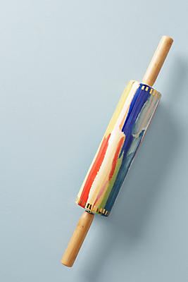 Slide View: 1: Painter's Palette Rolling Pin