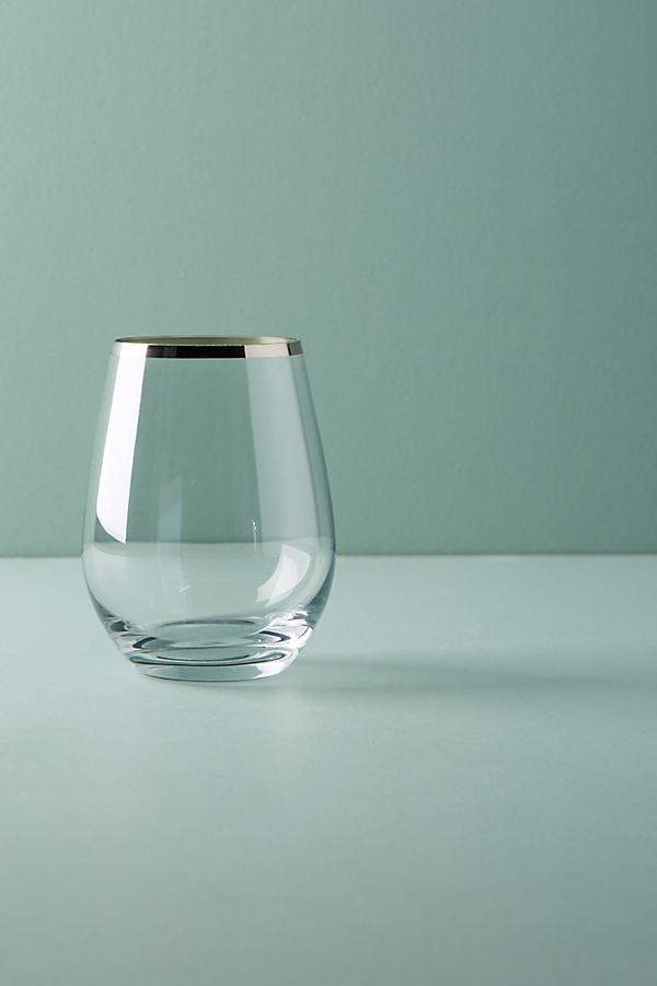 Tonal Tumbler Glass - Silver, Size Tumbler