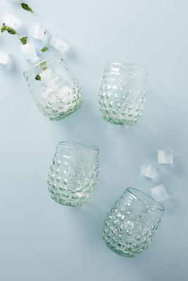 Slide View: 1: Textured Stemless Wine Glass Set