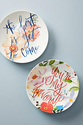 Slide View: 2: Conversation Dessert Plate