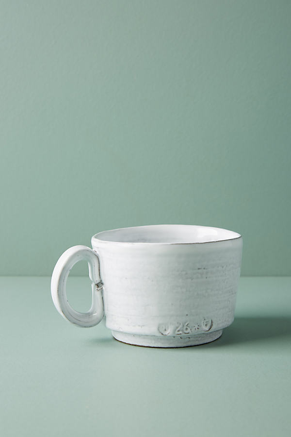 Glenna Mug - White, Size Mug