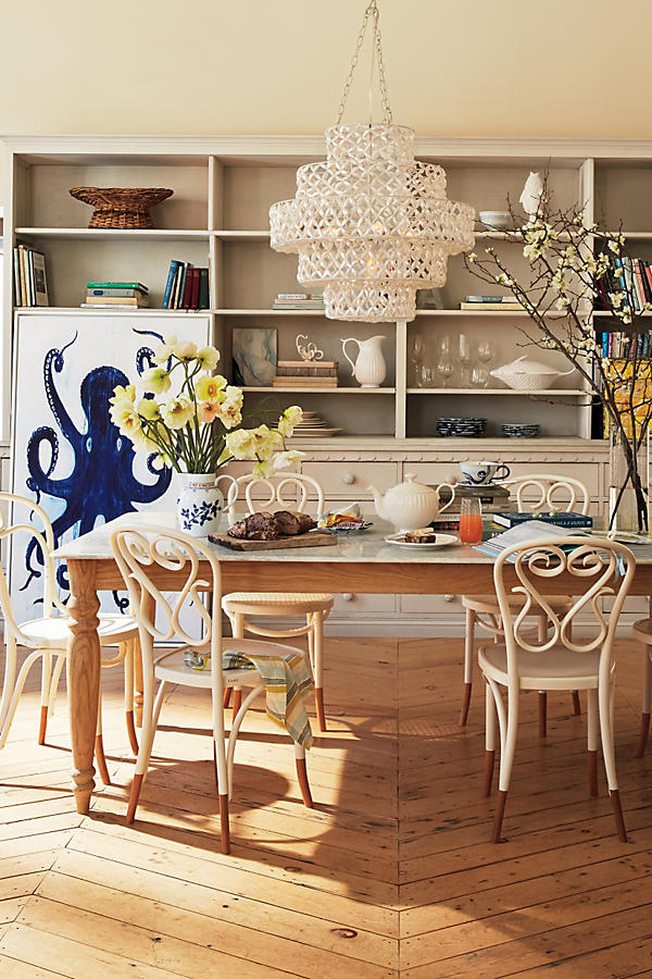 Slide View: 6: Polished Marble Dining Table, Rectangle - Polished Marble Dining Table, Rectangle Anthropologie