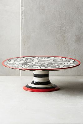 Felicitation Small Cake Stand - Black & White
