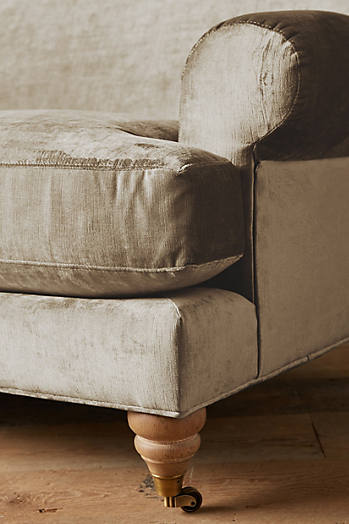 Slide View: 2: Slub Velvet Willoughby Settee, Wilcox