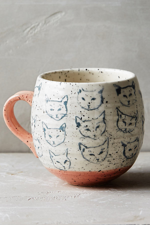 Neko Cat Mug - Pink, Size Mug