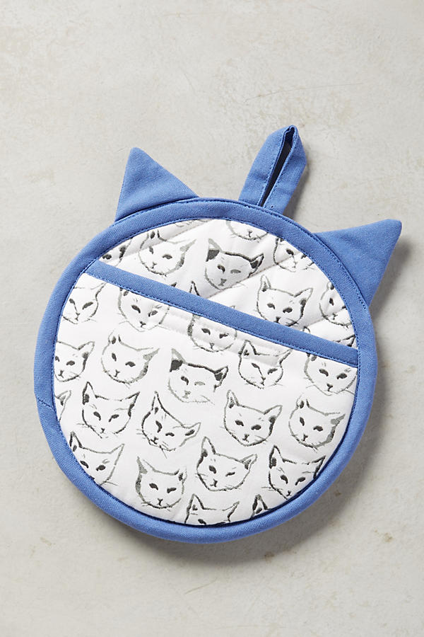Slide View: 3: Cat Study Pot Holder