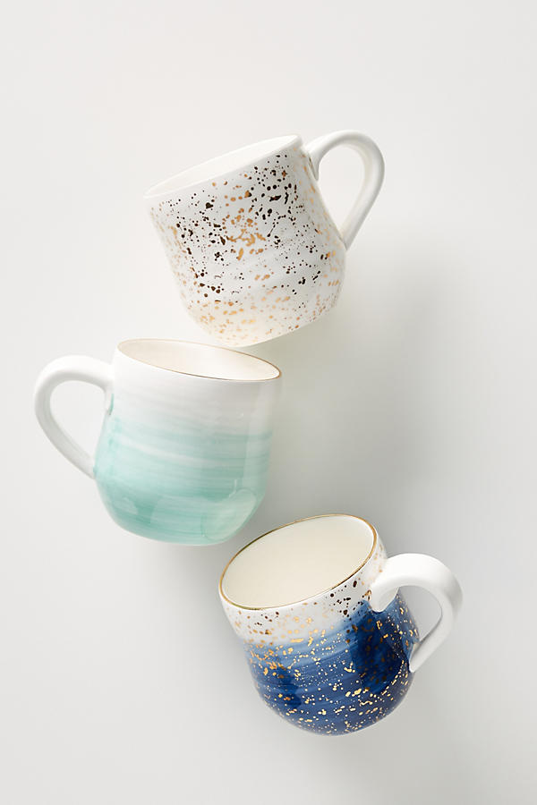 beautiful handpainted stoneware mugs